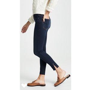 FRAME • le high skinny raw edge slit rivet jeans